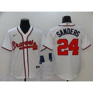 Atlanta Braves Deion Sanders White Jersey